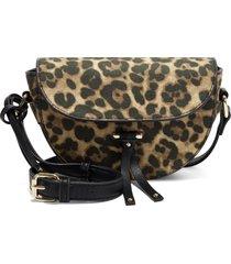 sole society lezar faux leather crossbody bag - brown