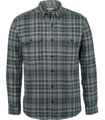 wolverine glacier heavyweight long sleeve flannel shirt slate blue pld, size xxl