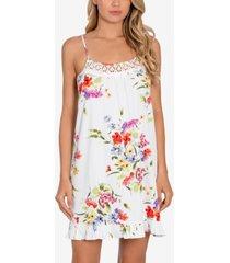 linea donatella floral-print chemise nightgown