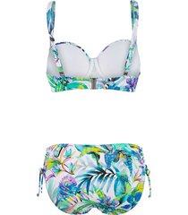 bikini sunflair vit/blå