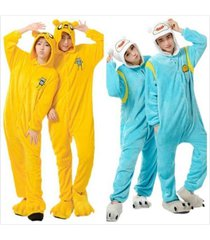 hot adventure time finn jake pajamas kigurumi cosplay animal onesi sleepwear