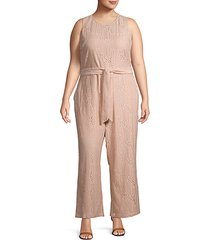 plus floral lace jumpsuit
