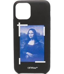 off-white monalisa iphone 11 pro case - black