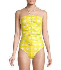 lombok tie-dye halterneck swimsuit