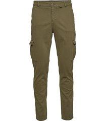 parcel cargo chino trousers cargo pants grön fram