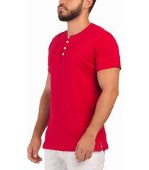 camiseta rojo frank pierce 4 botones