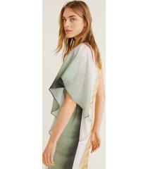 asymmetrische tie-dye jurk