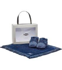 infant ugg bixbee booties & lovey blanket set
