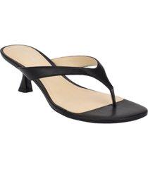 marc fisher wylda kitten-heel thong sandals women's shoes
