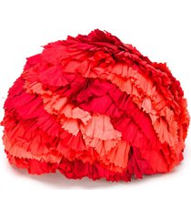 a.n.g.e.l.o. vintage cult 1950s ruffle hat - red
