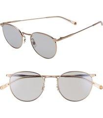salt. brower 51mm polarized round sunglasses in havana/antique gold/rose at nordstrom