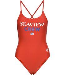 lifeguard swimming suit baddräkt badkläder röd scotch & soda