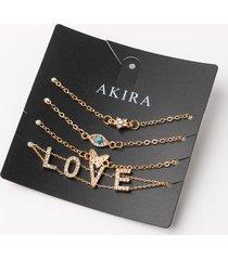 akira love bracelet set