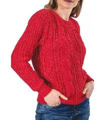 sweater acuario rojo guinda
