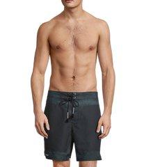 siki im men's surf shorts - white map - size xl