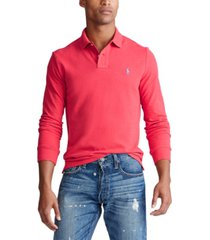 polo ralph lauren men's classic fit long sleeve mesh polo