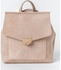 perry suede front flap backpack - natural