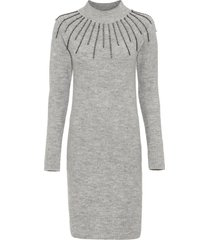 abito in maglia con applicazioni (grigio) - bodyflirt