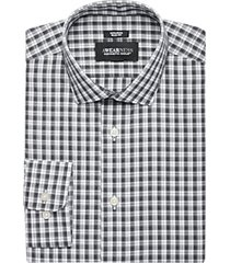 awearness kenneth cole black plaid slim fit dress shirt