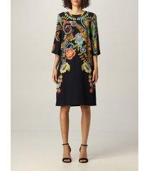 etro dress etro viscose dress with paisley print