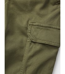pantaloni cargo in gabardina