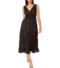 bleu by rod beattie india bazaar cover-up dress, size medium in black at nordstrom