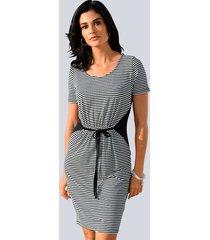 jersey jurk alba moda marine::wit