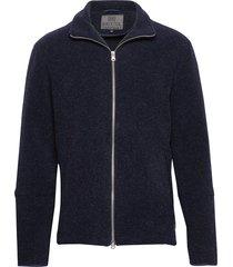 seven stickad tröja cardigan blå brixtol textiles