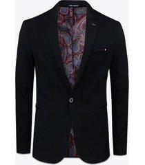 blazer gabbiano denim 2180 jersey cotton blazer black