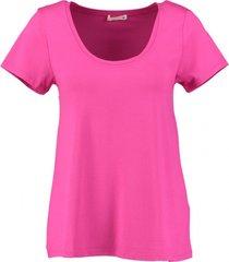 supertrash stevig roze viscose stretch shirt
