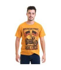 camiseta masculina manga curta estampada 30874