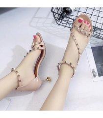 nuevas sandalias de tacón alto con punta abierta para mujer sandalias de