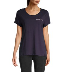 wild at heart embroidery t-shirt