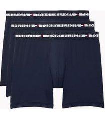 tommy hilfiger men's comfort + boxer brief 3pk dark navy - s