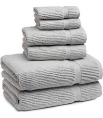 kassatex mateo 6-piece bath towel, hand towel & washcloth set