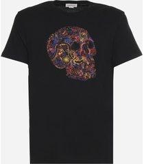 alexander mcqueen london skull cotton t-shirt