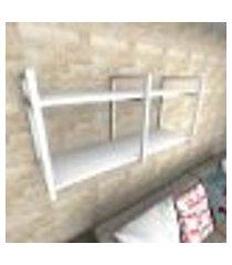 prateleira industrial para sala aço branco prateleiras 30 cm branca modelo indb22bsl