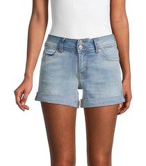 ruby rolled-cuff denim shorts