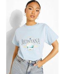 petite oversized katoenen montana t-shirt, light blue