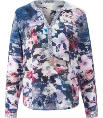 blouse bloemenimpressies en luipaarddetails van mybc multicolour