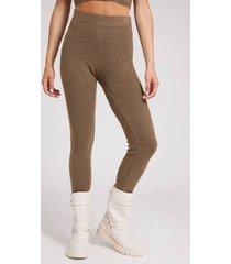 swetrowe legginsy ze wzorem