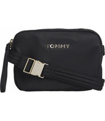 cartera nylon camera negro tommy jeans