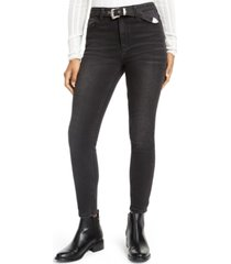 vanilla star juniors' western belt high-rise jeans