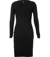 vestido forum curto canelado preto