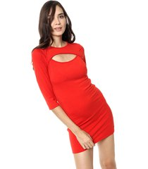 vestido rojo destino collection recorte