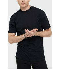 selected homme slhrelaxclean ss o-neck tee b t-shirts & linnen svart
