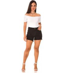shorts jeans express hot pants franjado feminino