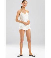 ava shorts, women's, white, 100% silk, size xs, josie natori