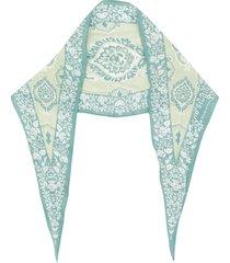 acne studios diamond-shaped bandana scarf - green