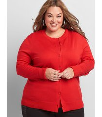 lane bryant women's button-front cardigan 14/16 racing red